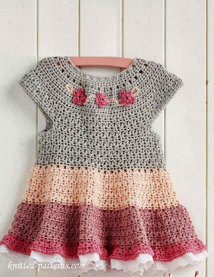 Free crochet tutorial - Granny Sqaure dress by | Crochet dress ...