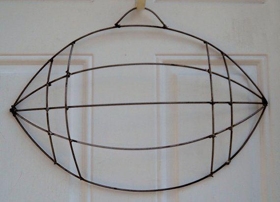 Football Wire Wreath Form By Dottiedot05 On Etsy 20 00 Wire Wreath Forms Wire Wreath Wreath Forms