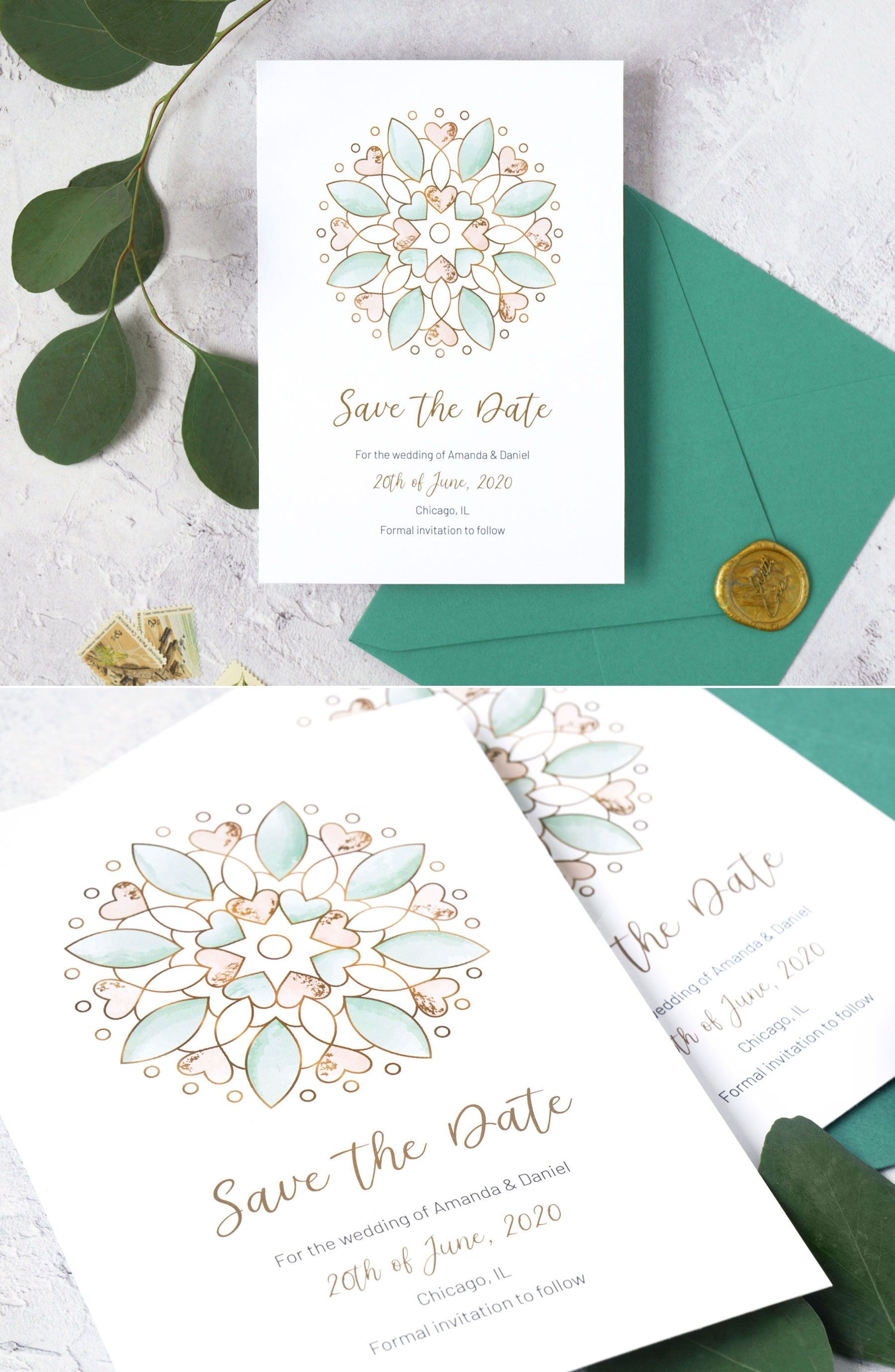 Custom Save the Date Printable Save the Date Wedding Stationery Photo Save the Date Modern Save the Date Colorblock Save the Date
