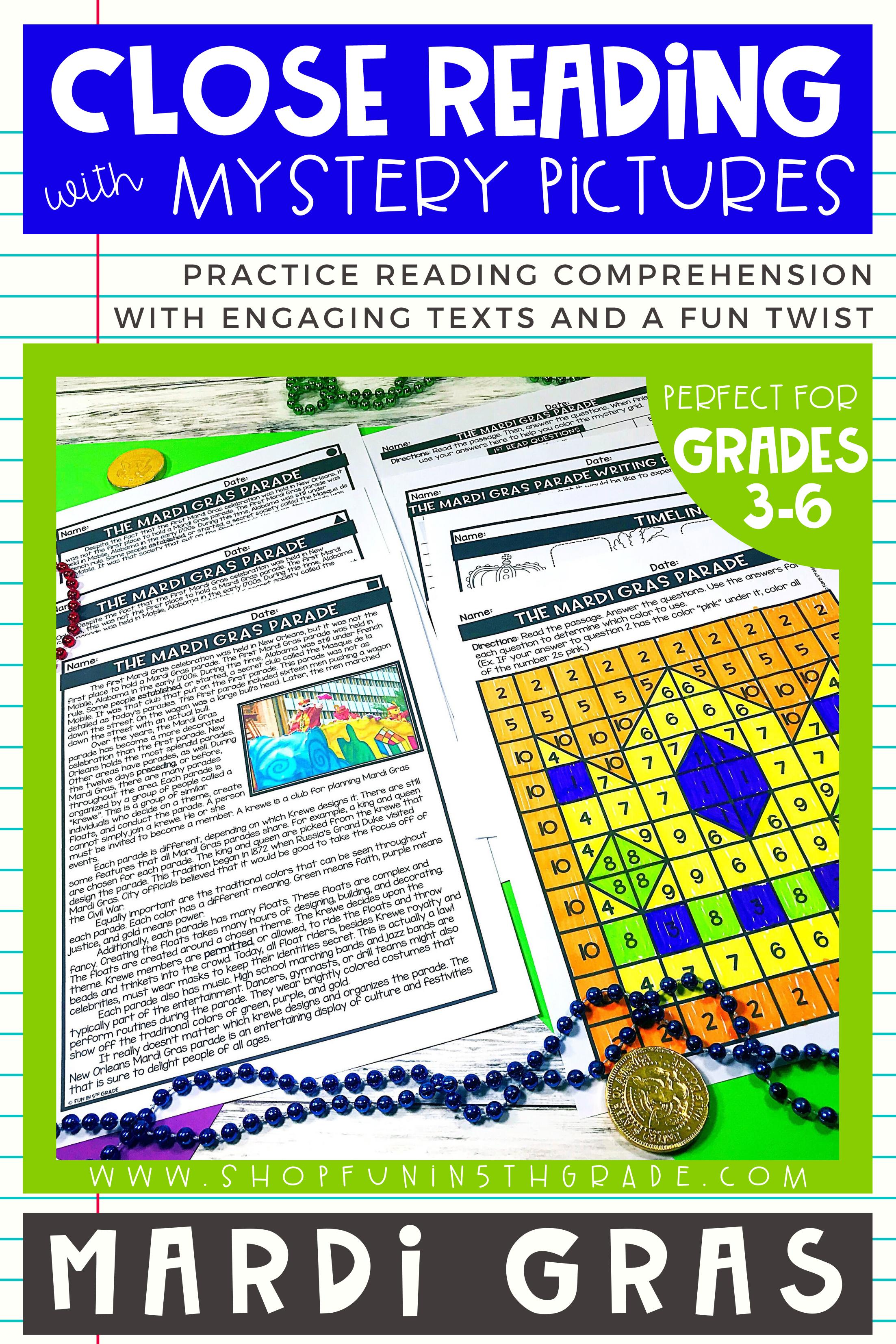 Mardi Gras Reading Comprehension Passages