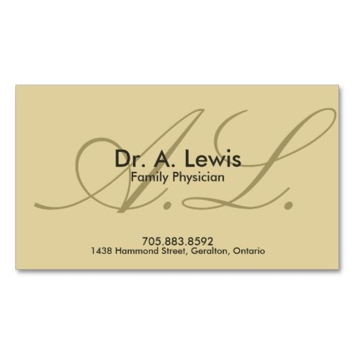 Physician And Medical Business Card  Monogram  Business Cards
