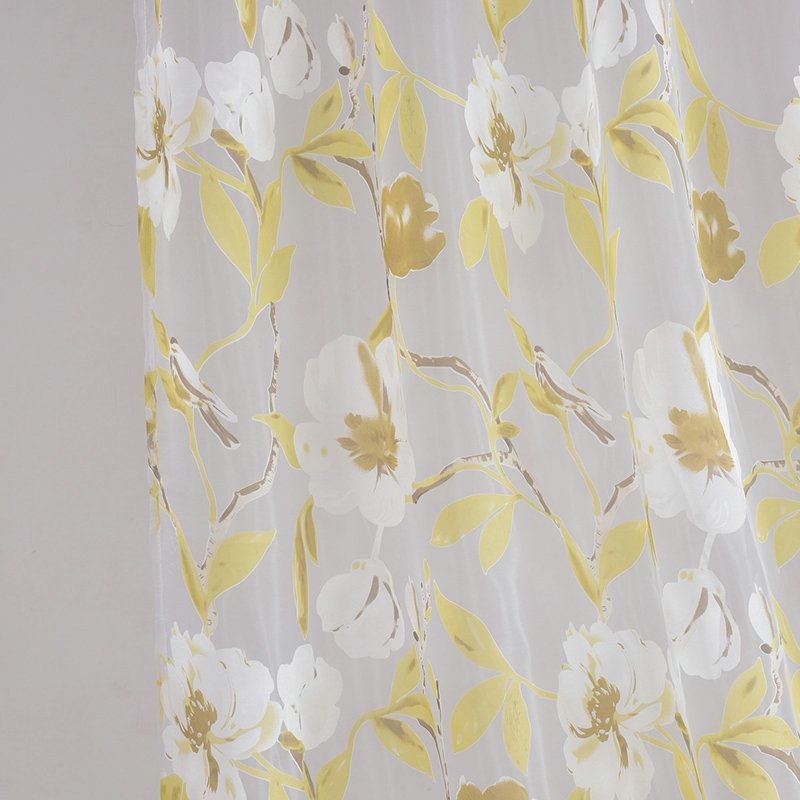 Yellow Flower Sheer Curtains Customize Sheer Curtains Sheer