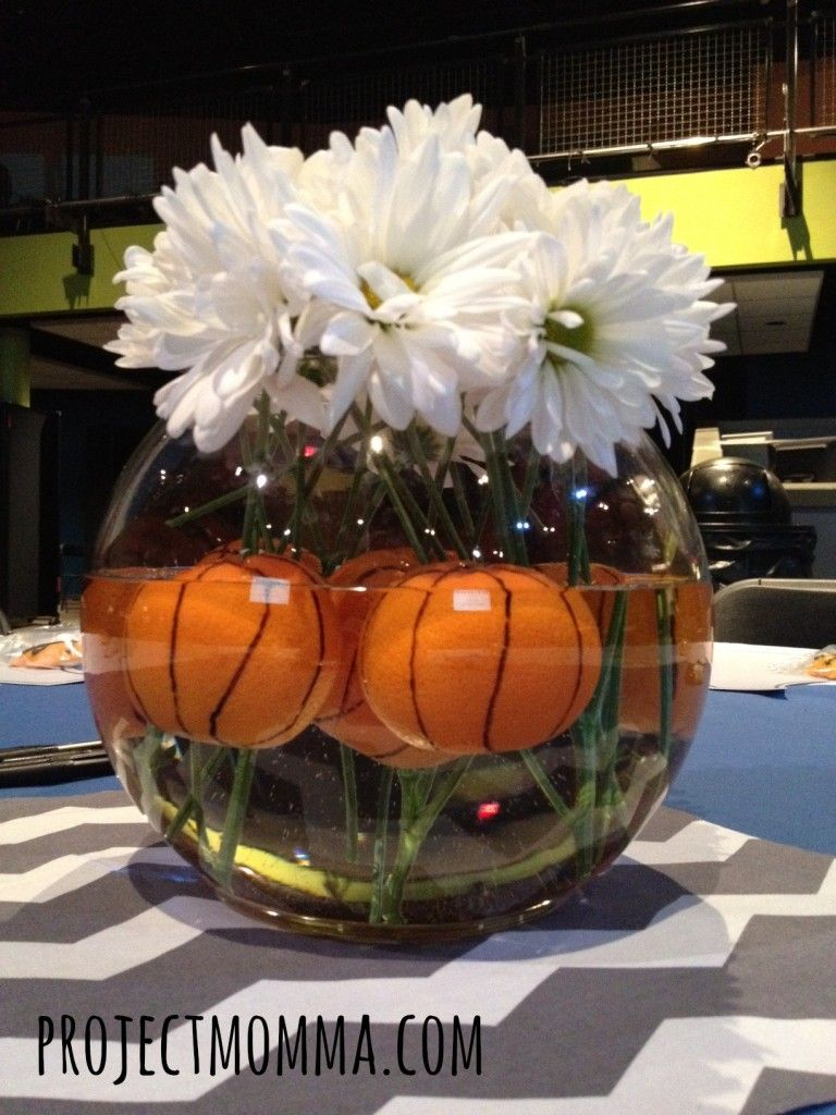 Basketball centerpiece decorating pinterest