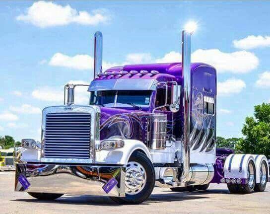 Pretty Purple Semitruck Big Rig Trucks Big Trucks Trucks