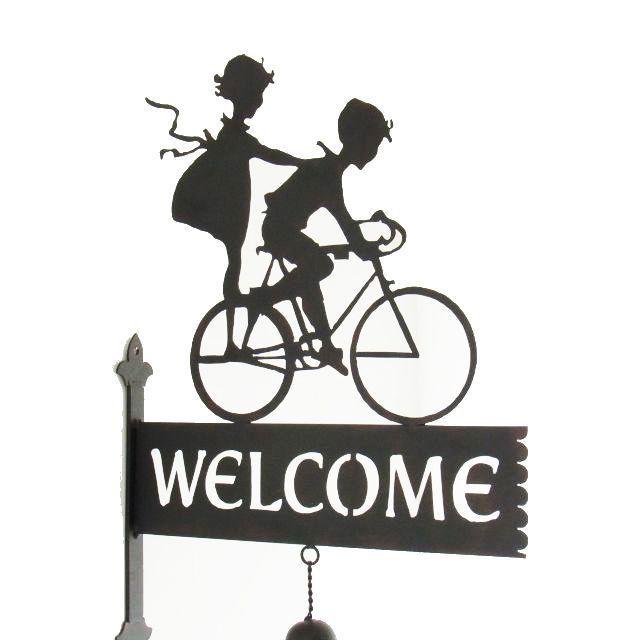 ドアベル おしゃれ 看板 サイン インテリア 雑貨 自転車 ガーデン