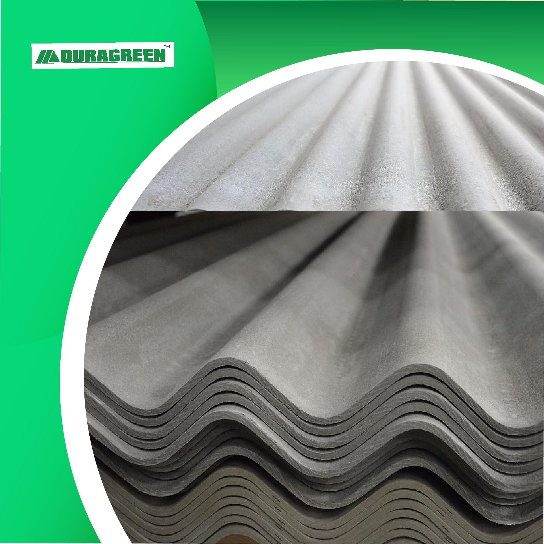 Duragreen Fiber Cement Corrugated Roofing Sheets In 2020 Corrugated Roofing Fiber Cement Board Roofing Sheets