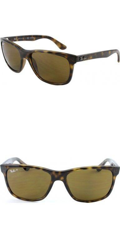 04f096aa2c Ray-Ban RB4181 Highstreet Polarized Designer Sunglasses - Light  Havana Brown   One Size
