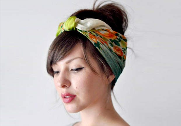 20 idées coiffure à réaliser avec un foulard Foulard