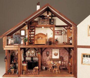 Como hacer una casa de munecas hacer bricolaje es - Casas miniaturas para construir ...
