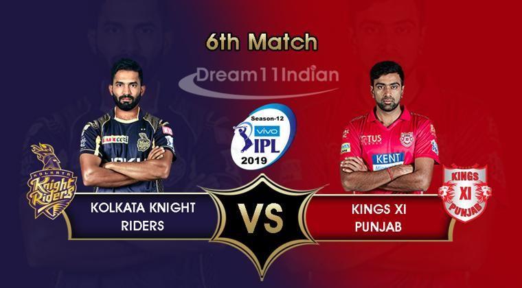 Kkr Vs Kxip Live Streaming Ipl 2019 Kolkata Knight Riders Vs Kings Xi Punjab Live Stream Online Kkr Kolkata Knight Riders Live Streaming Live Match Streaming