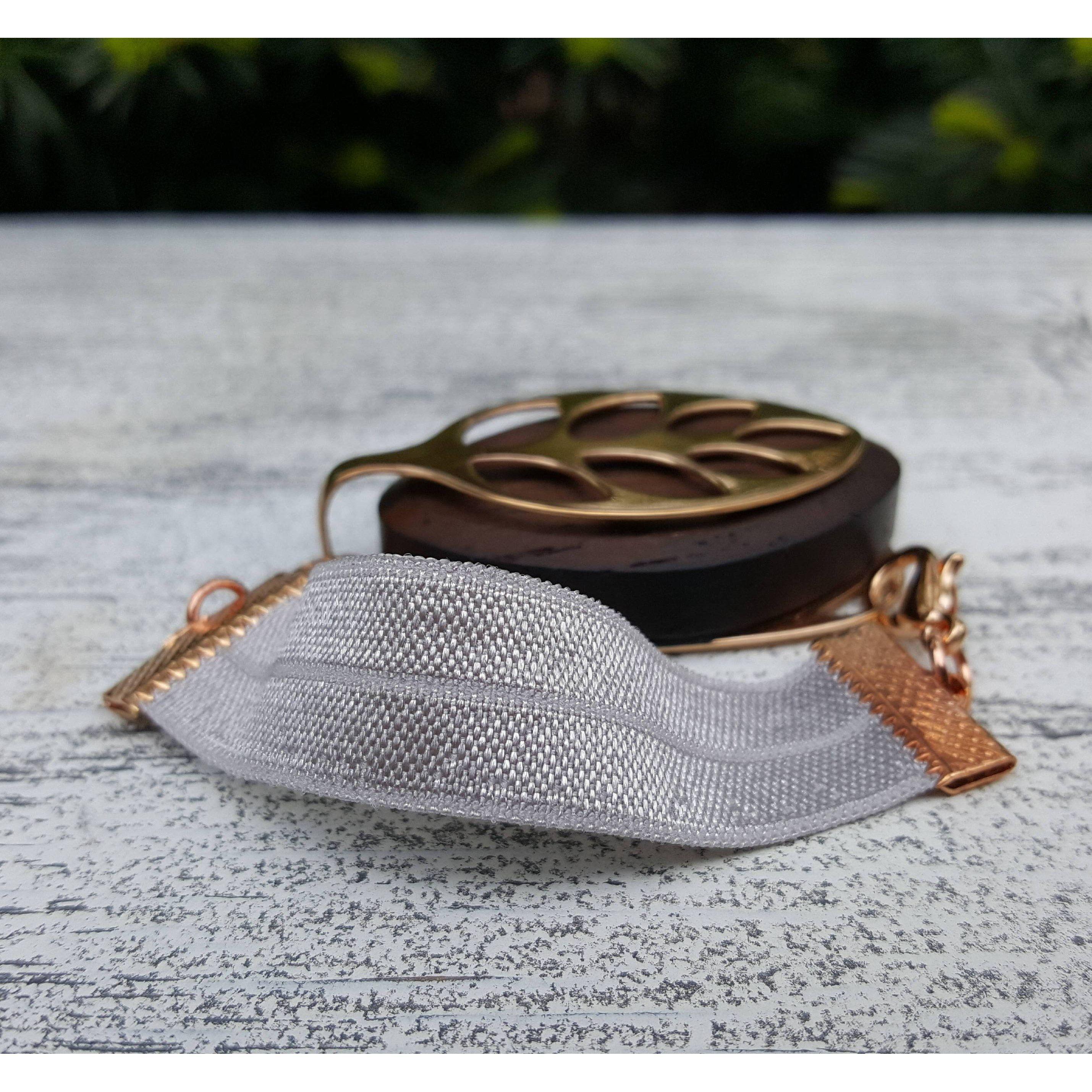 Gray Elastic Bracelet for Bellabeat LEAF
