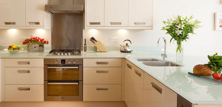 Cocina barra cubiertadevidrio vidrio templado - Vidrio templado cocina ...
