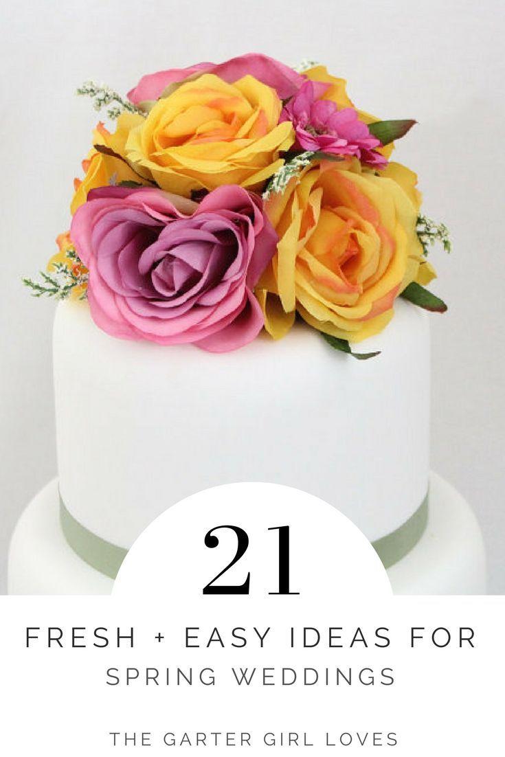 easy ideas for spring weddings bright silk flower wedding cake