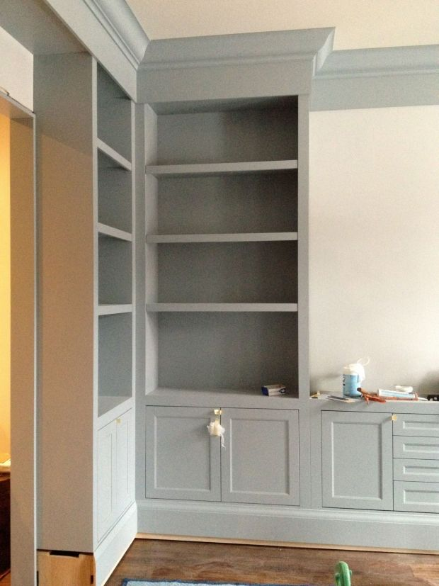 Gorgeous gray cabinet paint colors benjamin moore gray for Grey cabinet paint