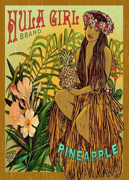 Hula Girl Vintage Hawaii Hawaii Art Hawaiian Art