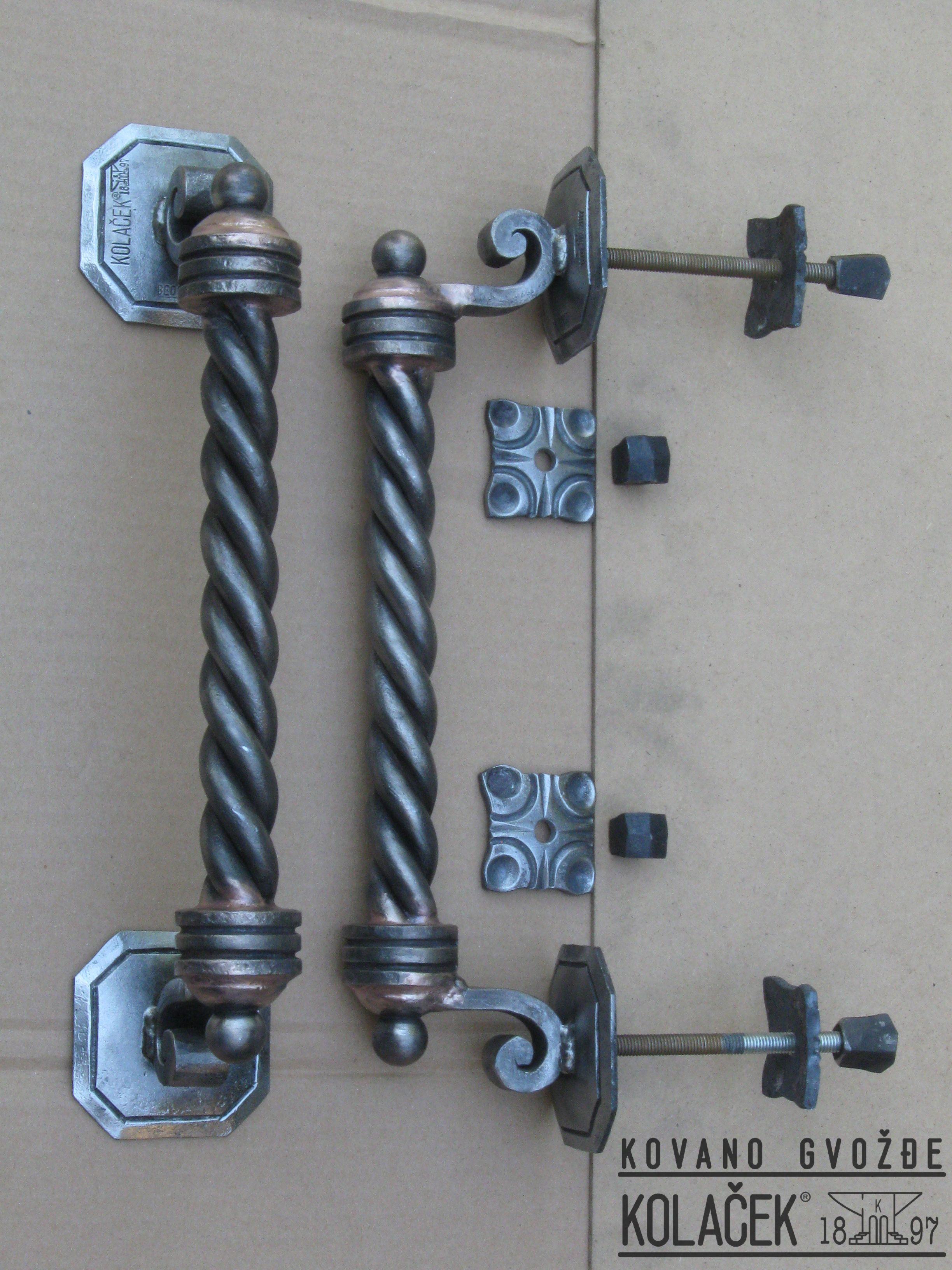 Door handle wrought iron Rucica za vrata od kovanog gvozdja