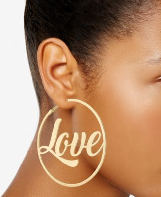 a5ce2c94778f6 Gold-Tone Love Hoop Earrings, Created for Macy's in 2019 | Products ...