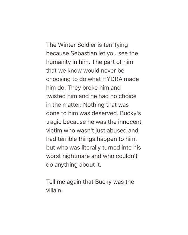 Bucky is a victim
