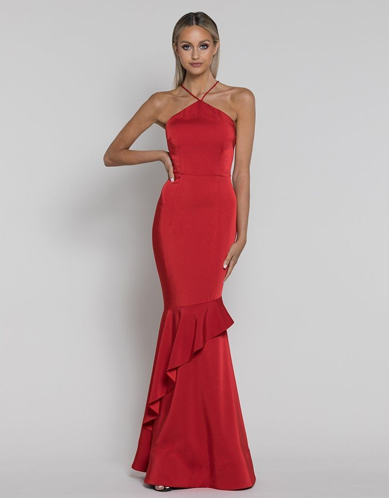 Annie ruffle fishtail gown b38d13l in 2020 gowns dress