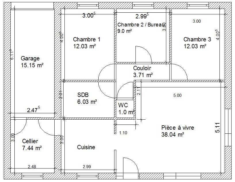 Les Plans D Une Maison En 2019 Plan De Maison Américaine