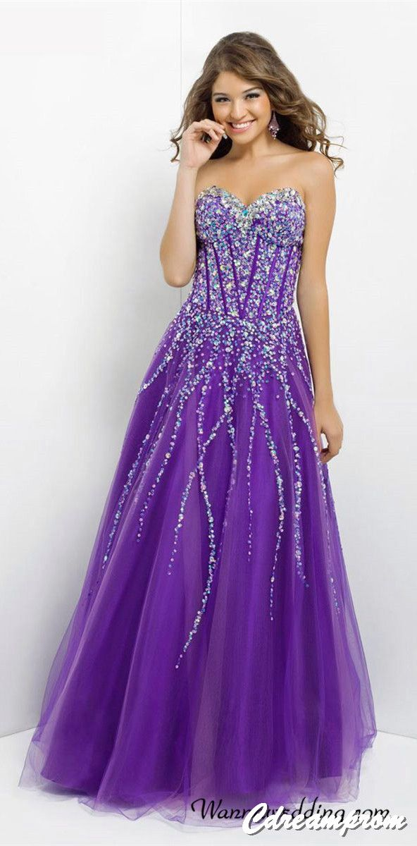 prom dress prom gown   Classy Purple   Pinterest   Vestiditos ...