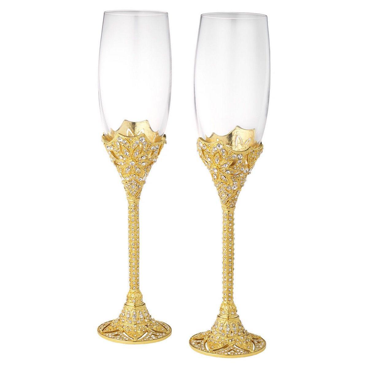 OLIVIA RIEGEL GOLD WINDSOR FLUTE SET OF 2 - 7 oz. | Wedding & Event ...