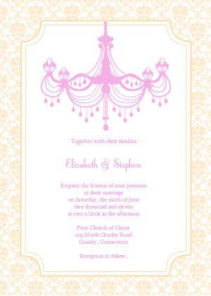 free printable chandelier invitations Vintage Wedding Ideas