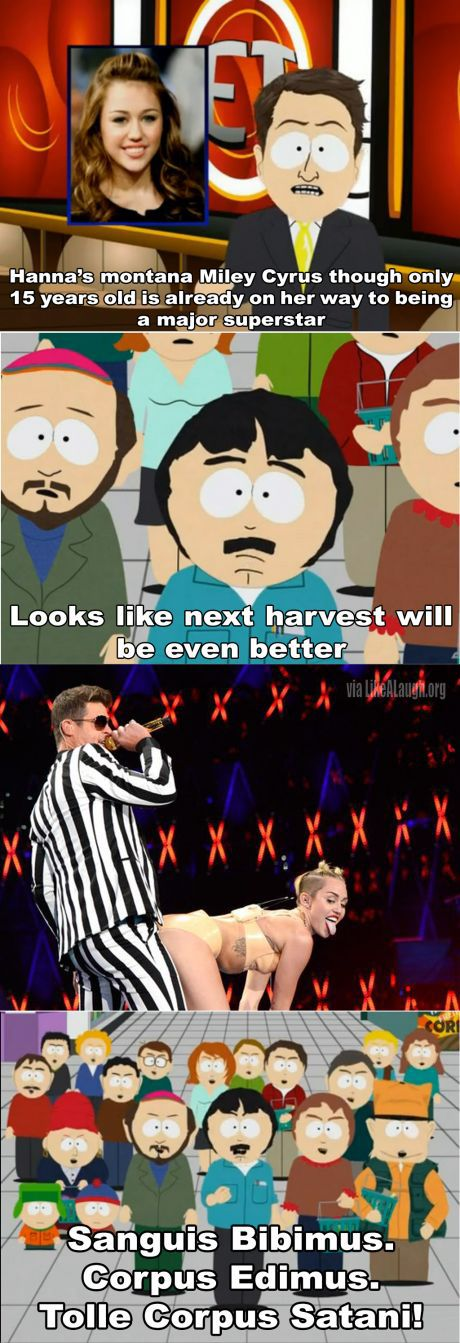 The next harvest will be even better #mileycyrus   Funny pictures. Funny miley cyrus. South park