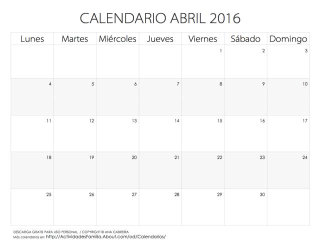 Familia Calendario 2016 Para Imprimir Calendario 2016 Calendario