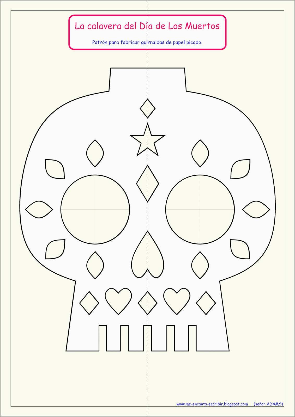 Patrones Para Papel Picado Dia De Muertos