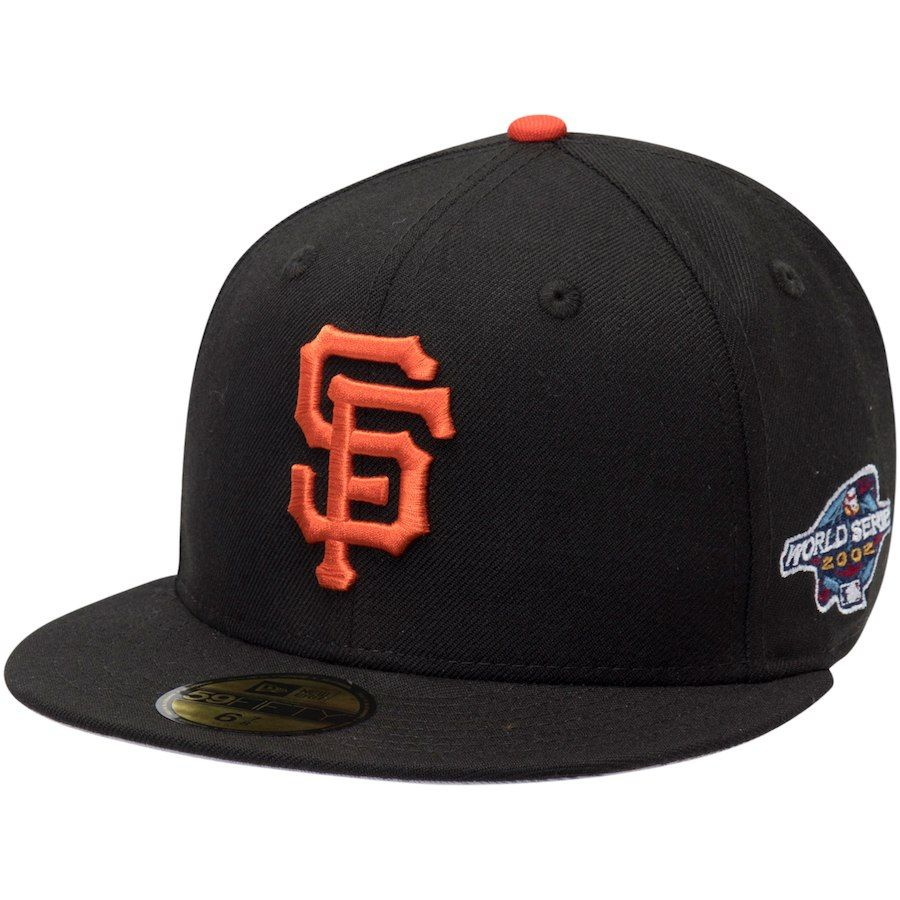 quality design e692f 838e4 Men s San Francisco Giants New Era Black 2002 World Series Wool 59FIFTY  Fitted Hat, Your Price   36.99