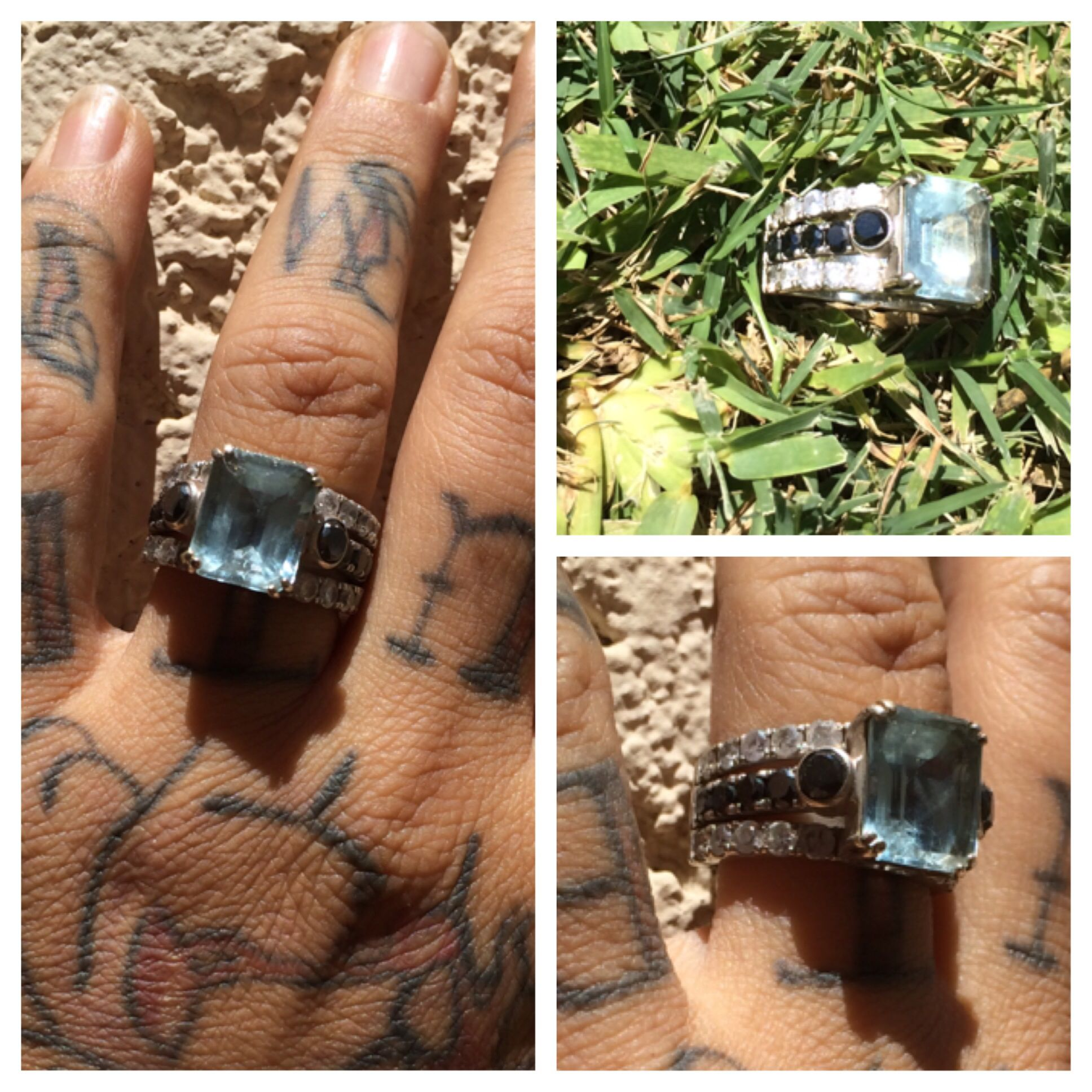This is my custom wedding ring i made with nancy vega at sand and