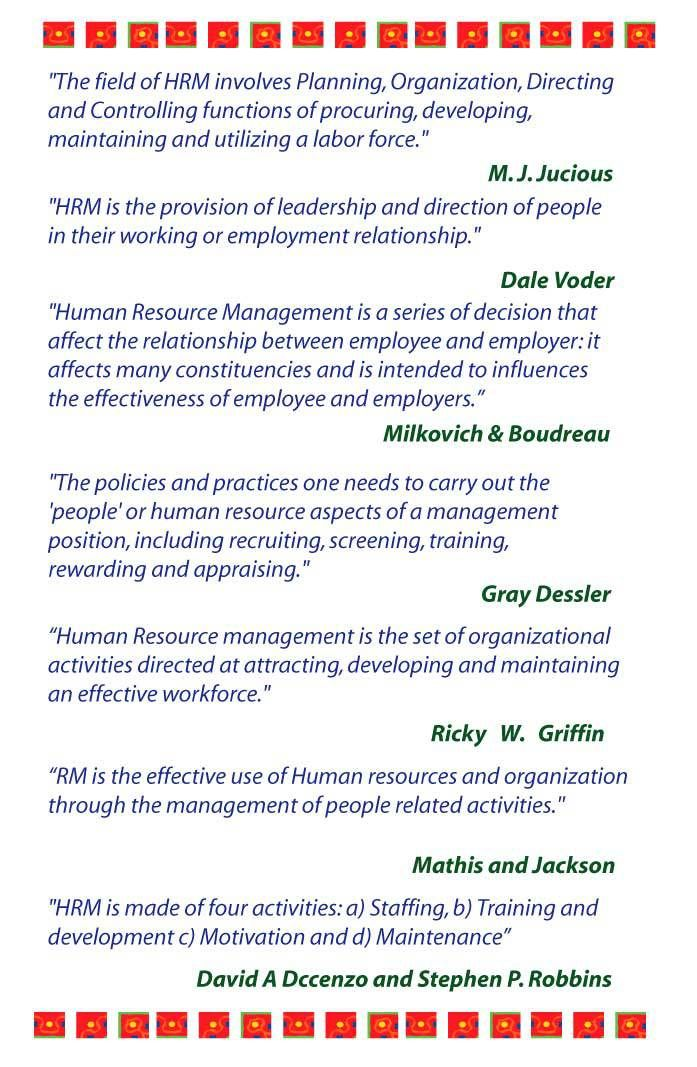 Definition Of Human Resource Management Human Resources Human Resource Management Management