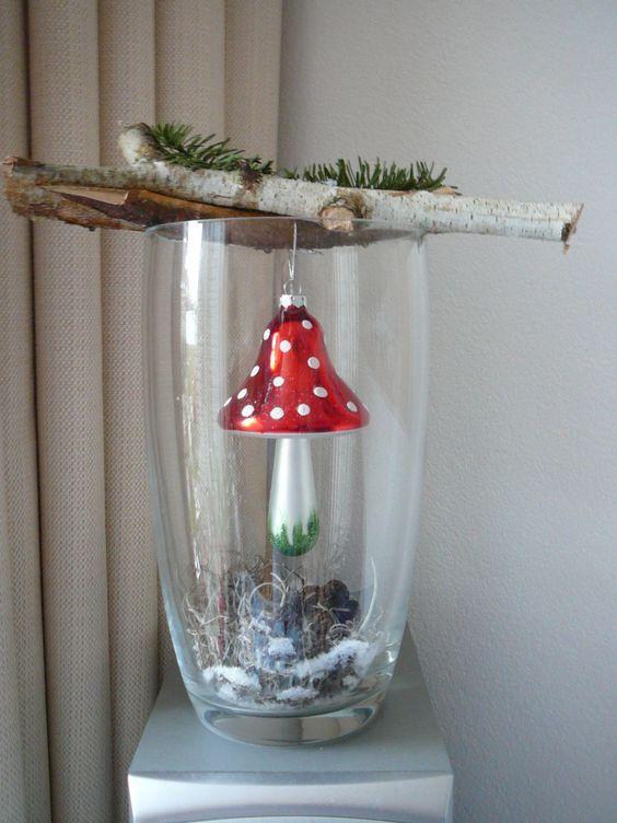 (84) Fliegenpilz Dekoration … | Xmas deko selbst gemacht | Pinterest #dekowinter