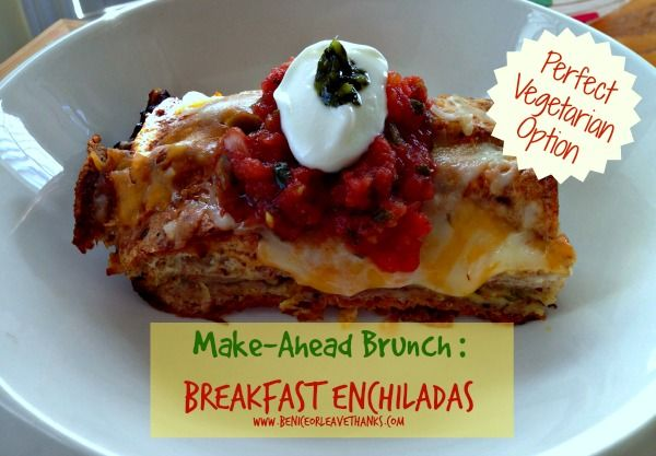 Perfect Brunch Idea: Breakfast Enchiladas