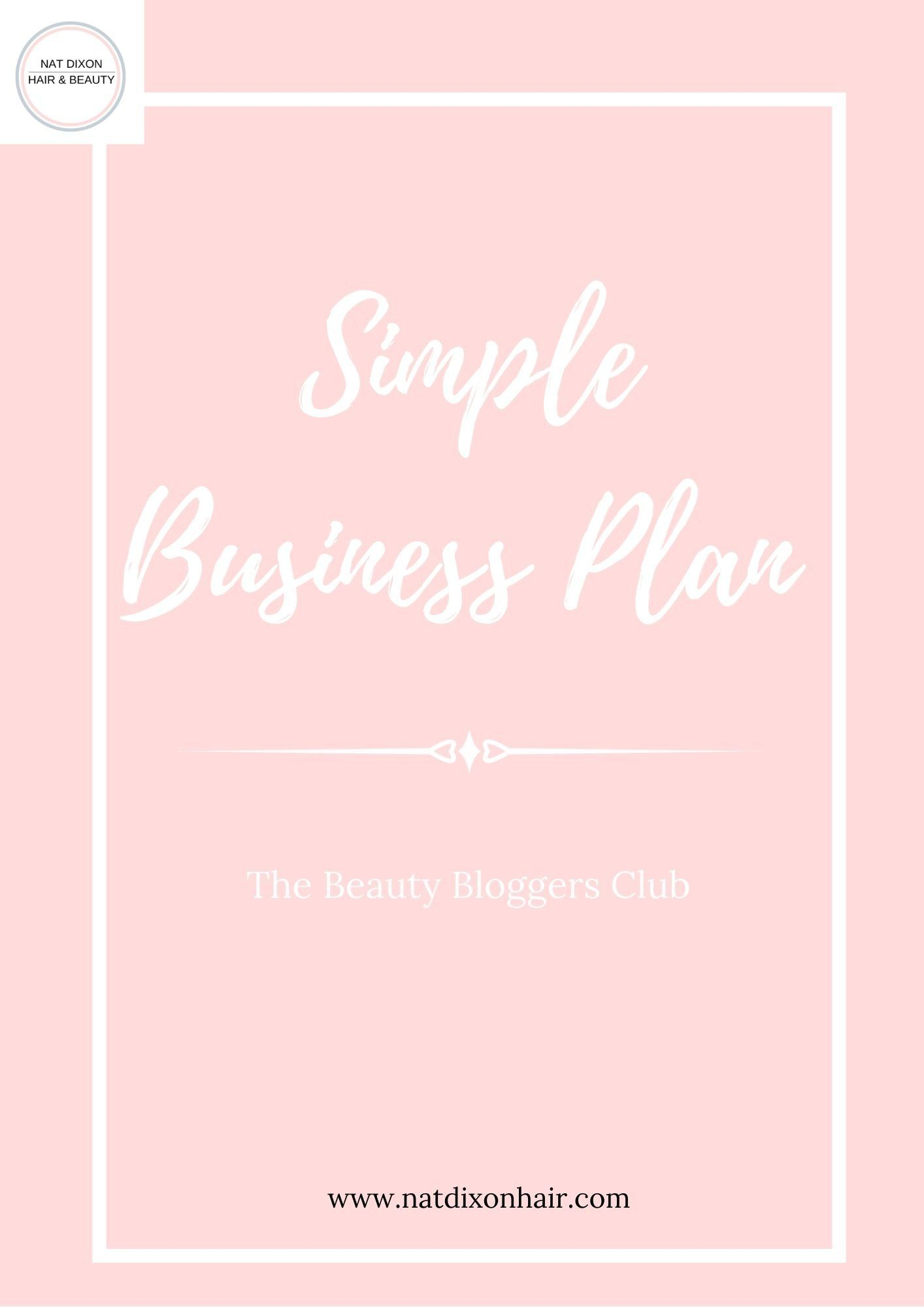 Simple Business Plan A business plan template to help new