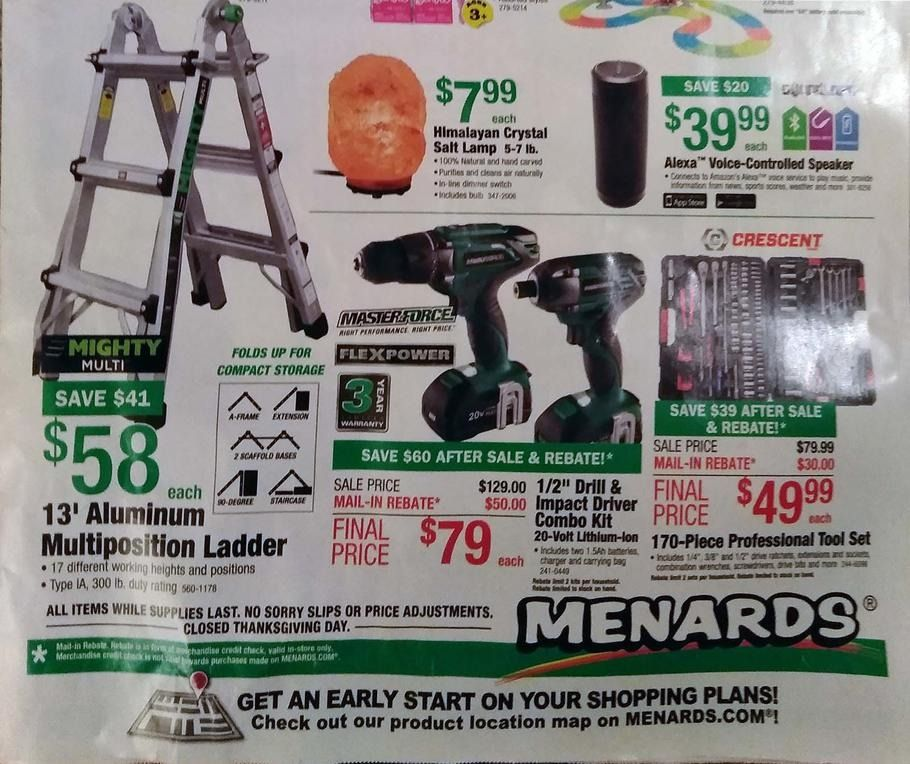 Menards Black Friday 2017 Ads and Deals Find everything you need to get  ready for the