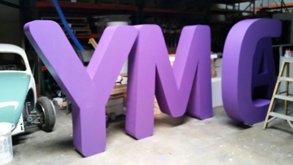 Dimensional large foam letters by wecutfoam foam