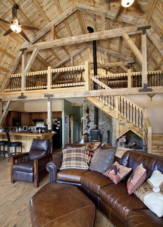 Delightful Open Living In This Gambrel Barn Home
