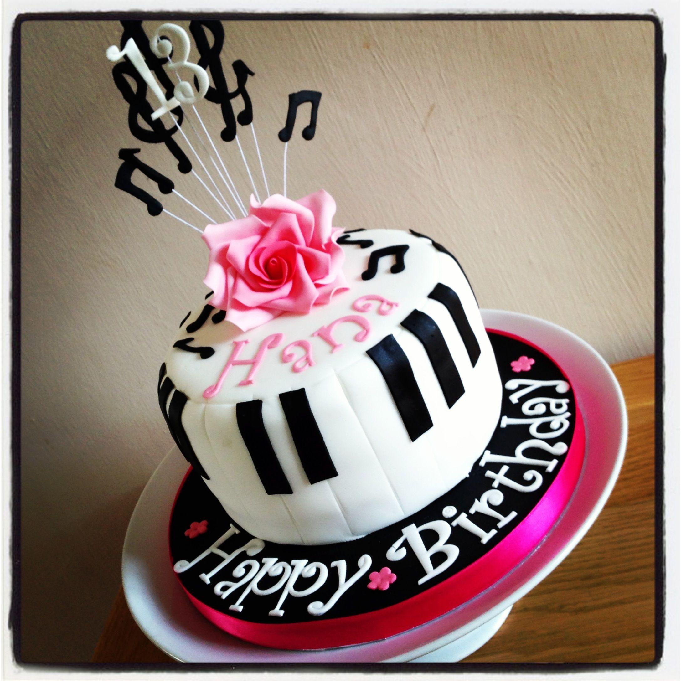 Piano Music Birthday Cake