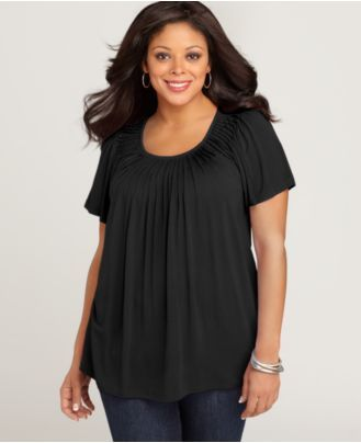 Style Plus Size Top, Short-Sleeve Pleated - Plus Size Tops - Plus Sizes - Macy's-25