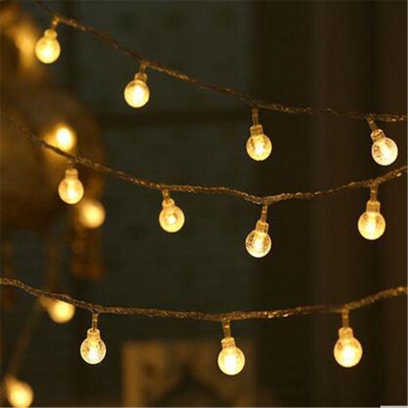 Wedding decoration Novelty 10M LED Festoon Crystal ball String Lamps