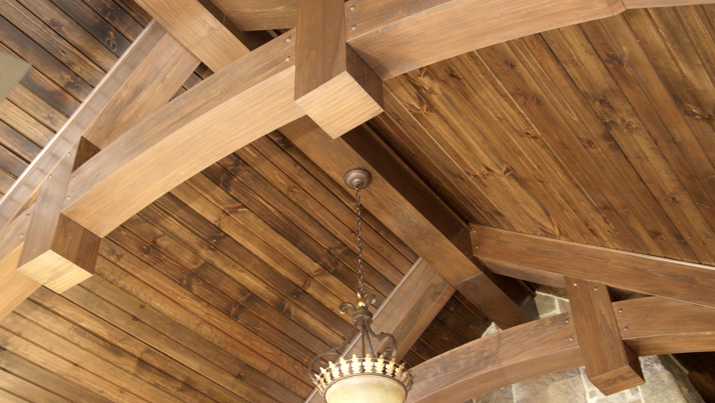 Vaulted Ceiling With 6 11 16 Pine Barn Siding Barn Siding Hardwood Plywood S4s Lumber