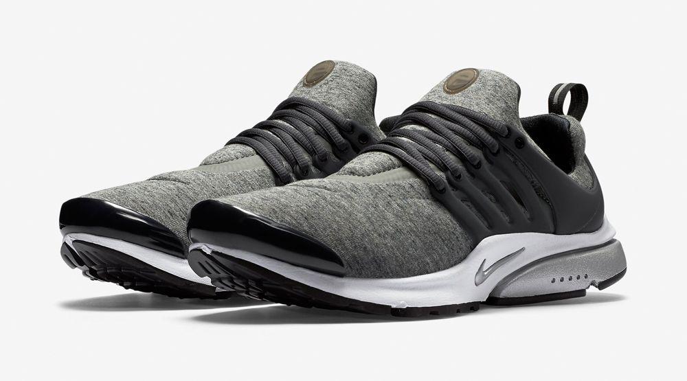 "Nike Air Presto ""Tech Fleece"" - Black / Black - Heather Grey - Black"