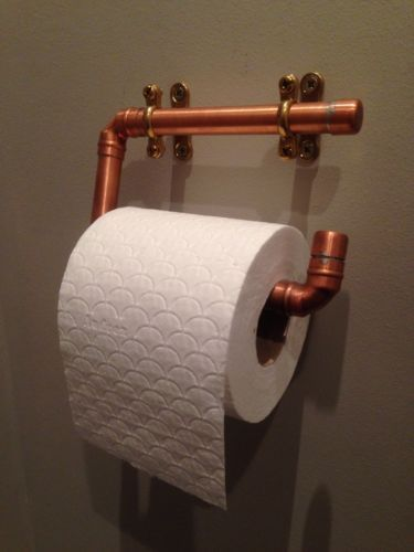 Copper Pipe Toilet Roll Holder Industrial Design Toilet