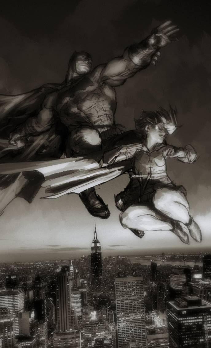 The Dark Knight (tribute to Frank Miller) by Gerald Parel *