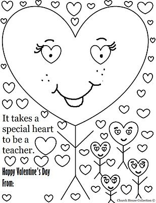 Valentine S Day Coloring Page For Teacher And Valentine S Day