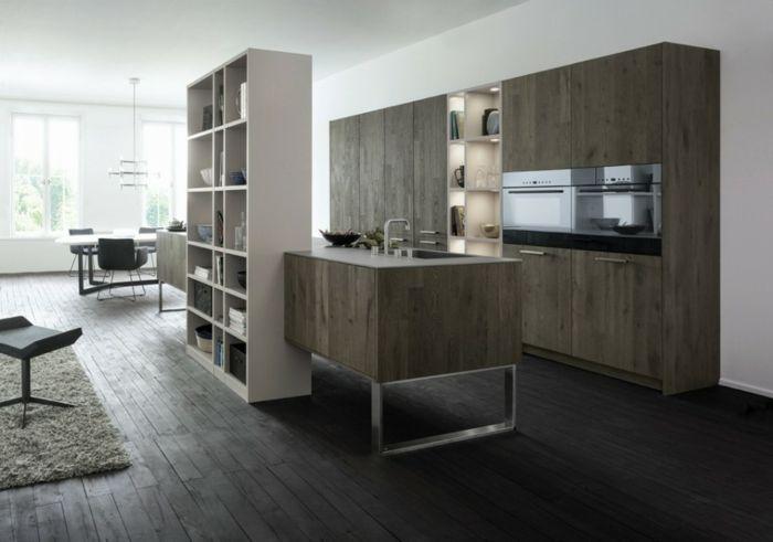 bodenbelag küche laminat regalsysteme stauraum küche modern ...