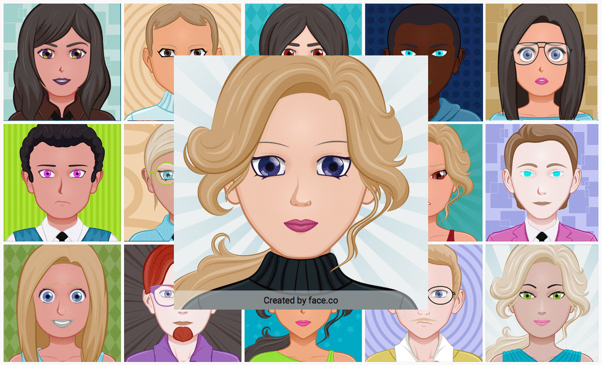 face co is a svg avatar generator