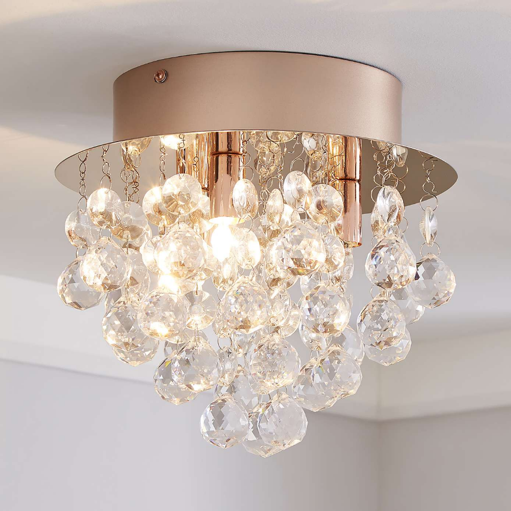Torto Rose Gold Ceiling Fitting | Dunelm | Gold ceiling